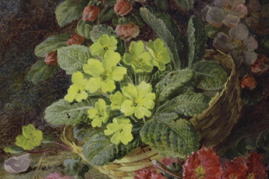 Vincent Clare, English (1855-1930) O/C Flowers - 4