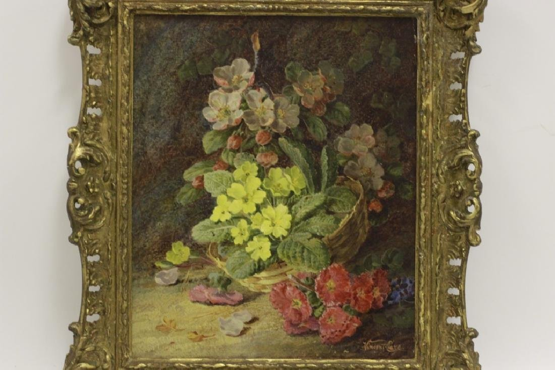 Vincent Clare, English (1855-1930) O/C Flowers - 6