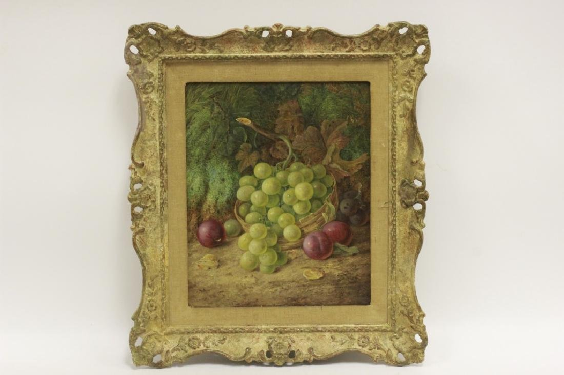 Vincent Clare, English (1855-1930) O/C Board-Fruit