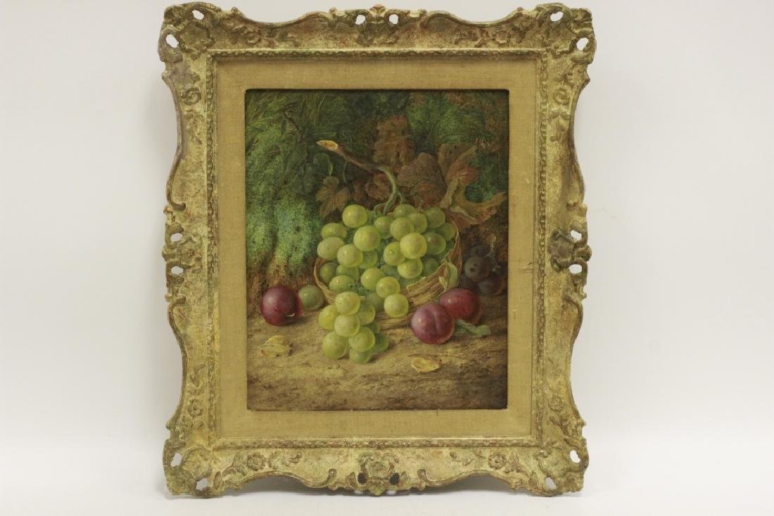Vincent Clare, English (1855-1930) O/C Board-Fruit - 2