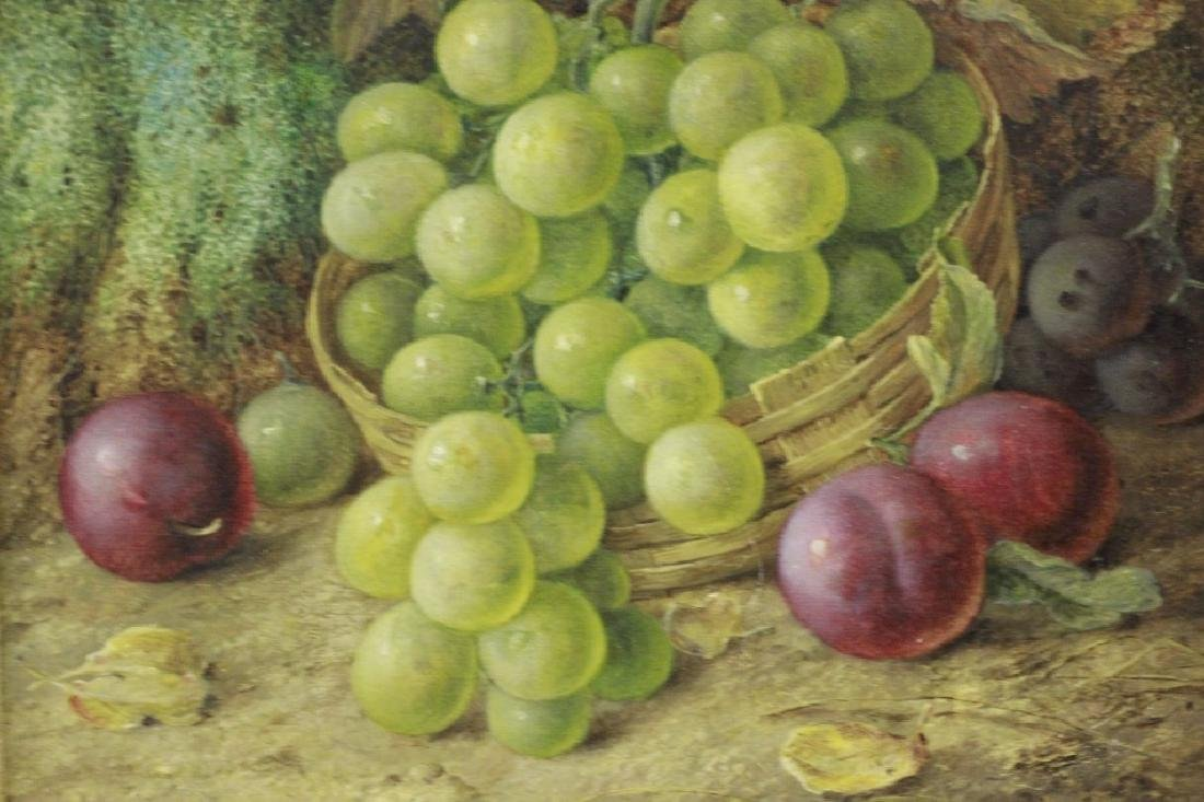 Vincent Clare, English (1855-1930) O/C Board-Fruit - 3