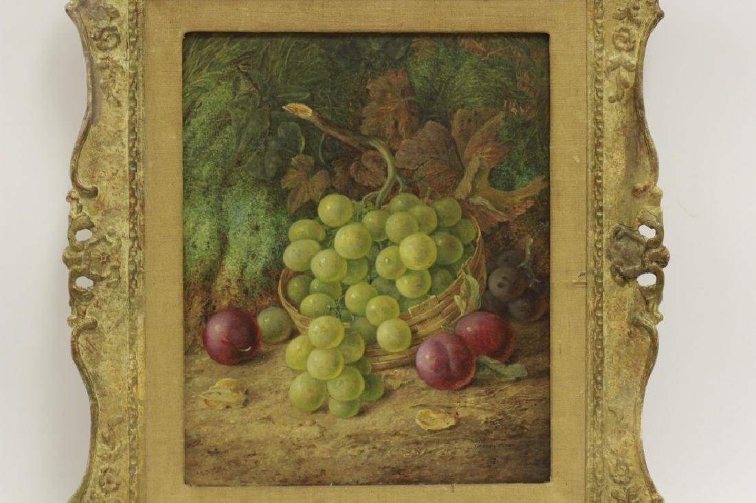 Vincent Clare, English (1855-1930) O/C Board-Fruit - 6