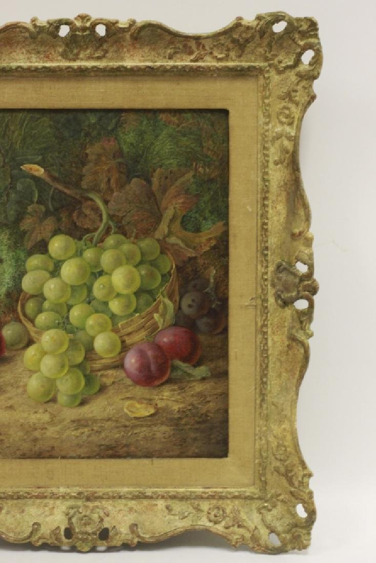 Vincent Clare, English (1855-1930) O/C Board-Fruit - 8