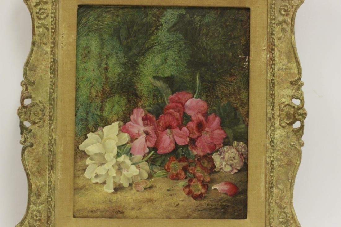 Vincent Clare English (1855-1930) O/C Board-Flower - 6