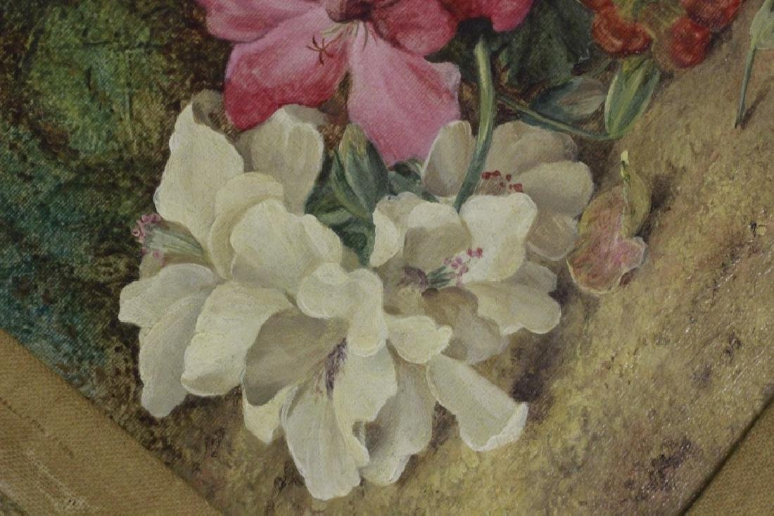 Vincent Clare English (1855-1930) O/C Board-Flower - 7