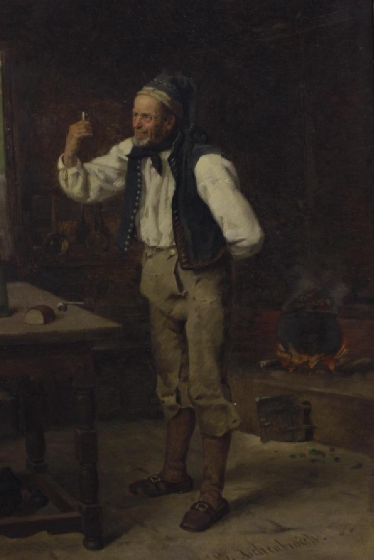 Heinrich Aschenbroich (1839-1909) O/B, Man w/ Cup - 2