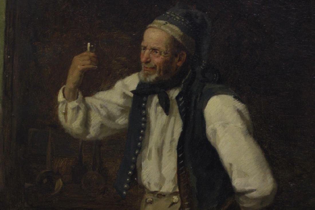 Heinrich Aschenbroich (1839-1909) O/B, Man w/ Cup - 4