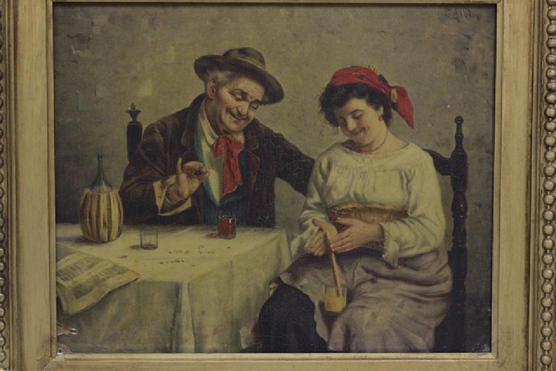 Oil on Board, Signed G. Albin, Man & Woman - 2