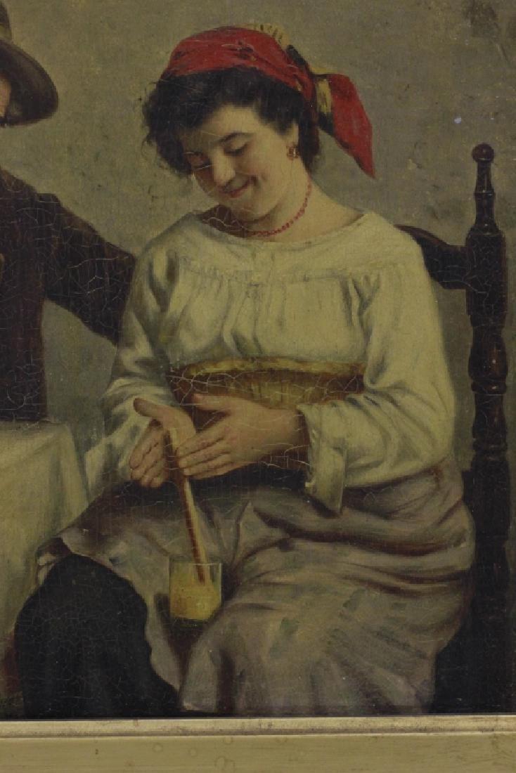 Oil on Board, Signed G. Albin, Man & Woman - 3