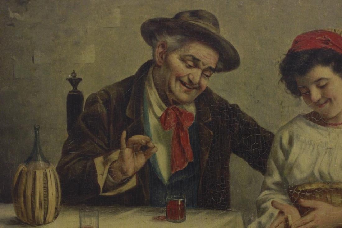 Oil on Board, Signed G. Albin, Man & Woman - 4