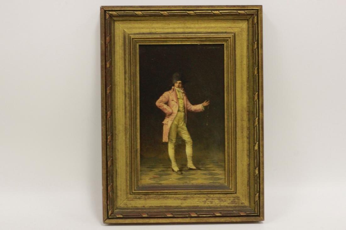 Ignaz Guagengigl (1853-1932) O/B, Small Napoleon