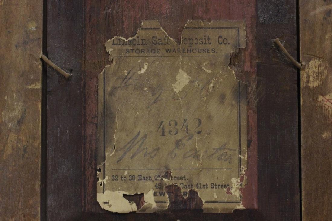 19thc Oil on Board, Woman w/ Parakeet - 9