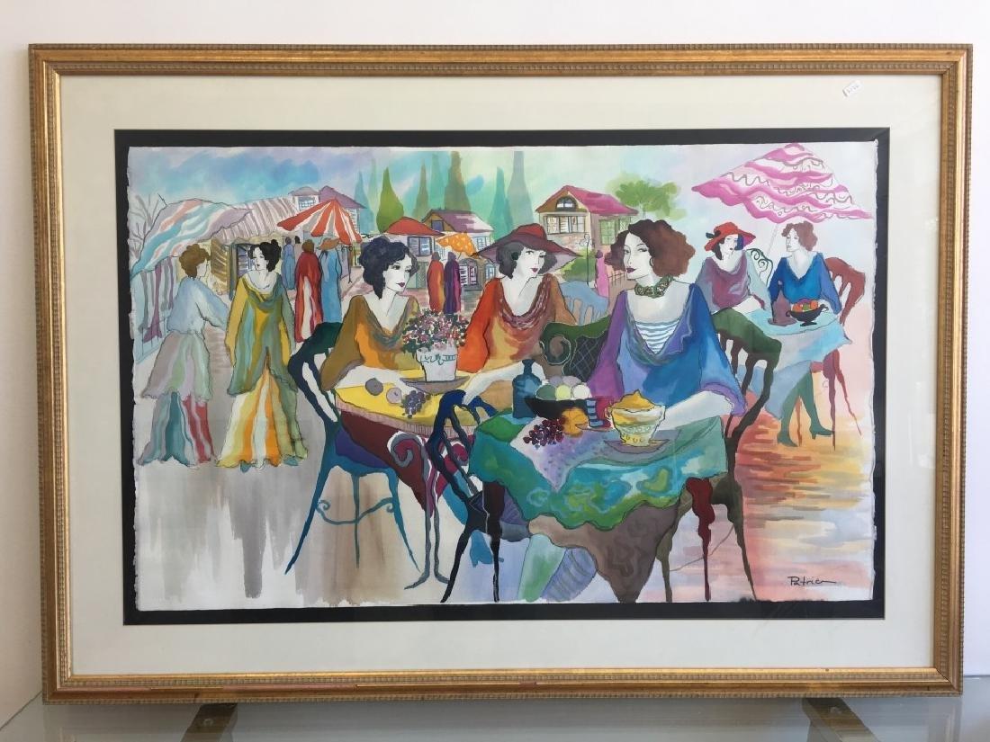 Patricia Govezinsky Israeli (Born 1961) Watercolor