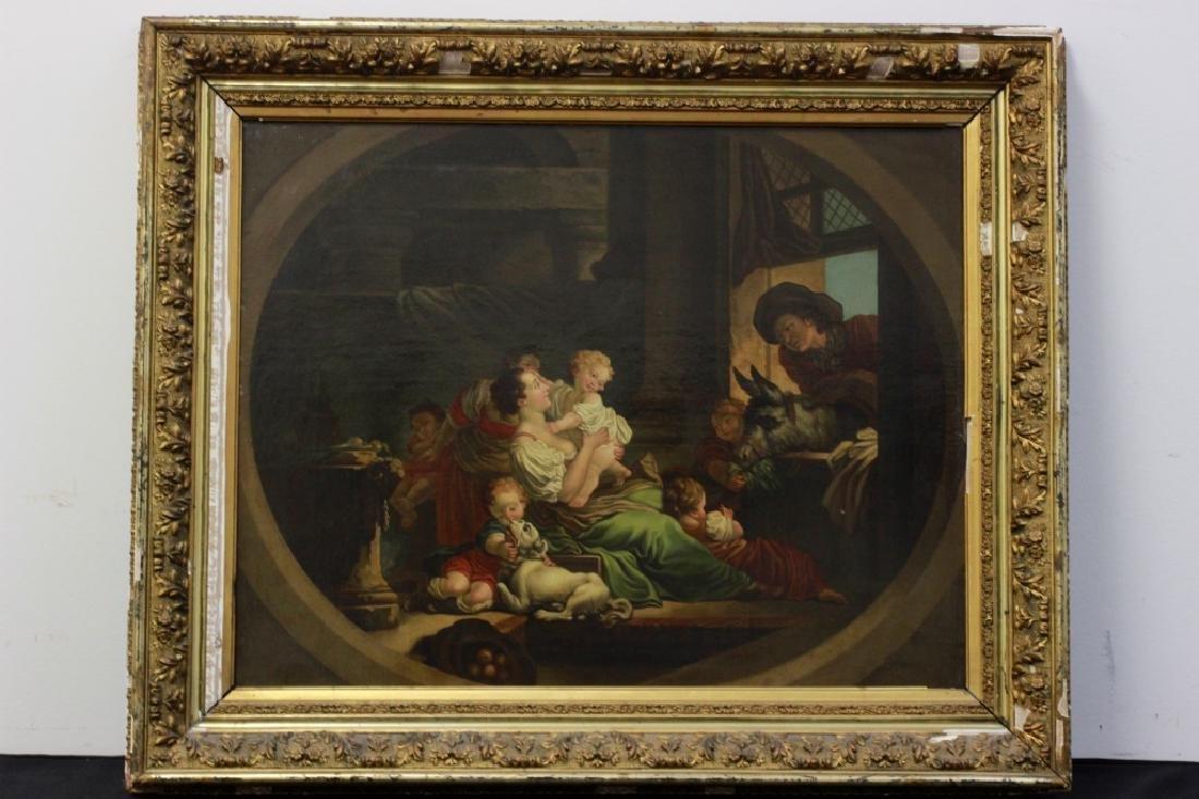 Attrib Jean Baptiste Greuz French (1725-1805) O/C