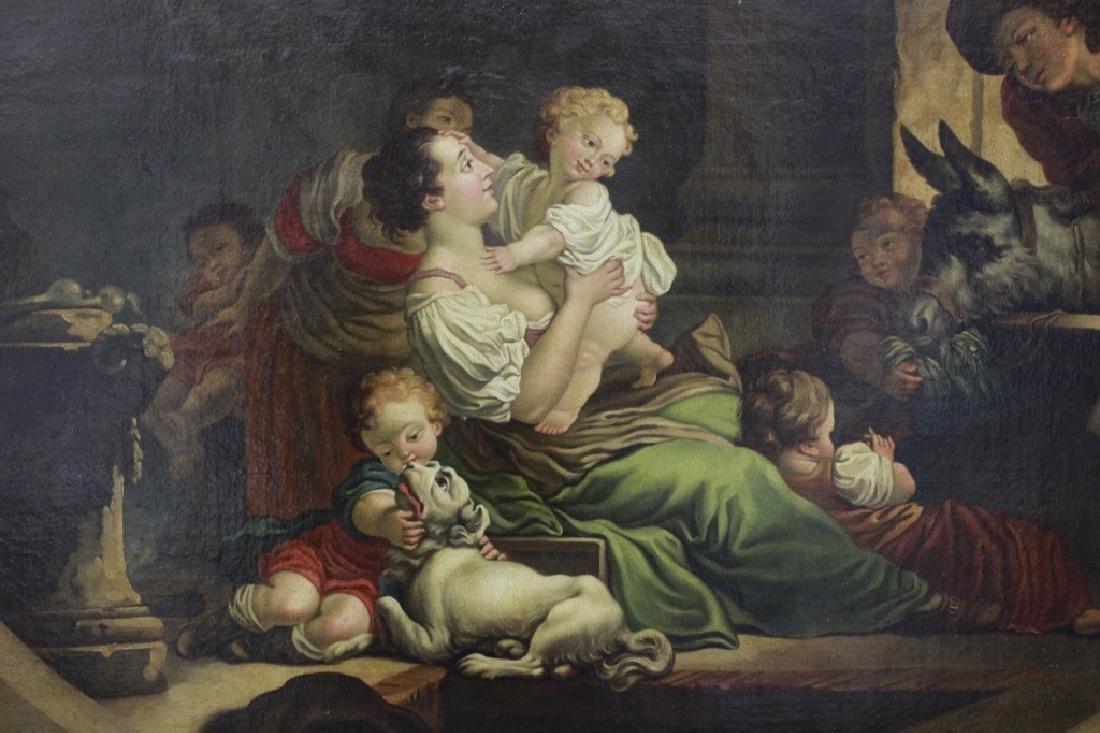 Attrib Jean Baptiste Greuz French (1725-1805) O/C - 4
