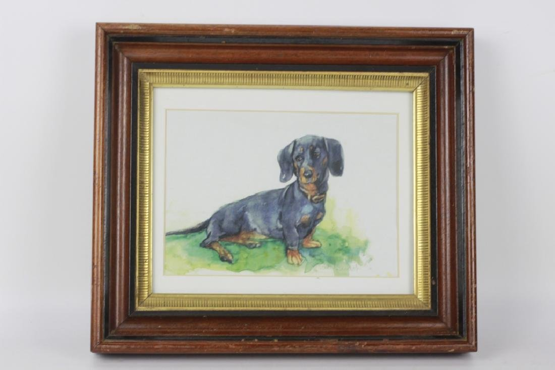 Watercolor Print of a Dachshund Dog