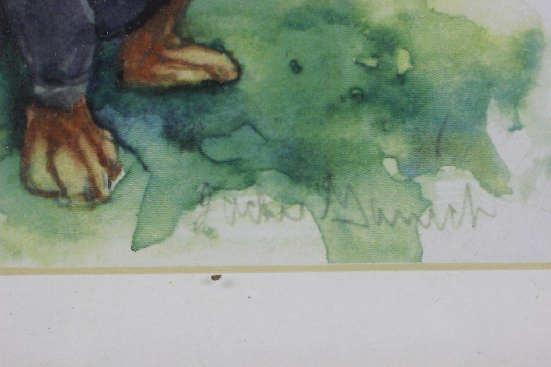 Watercolor Print of a Dachshund Dog - 2