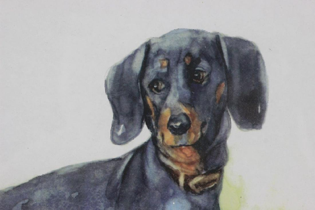 Watercolor Print of a Dachshund Dog - 3