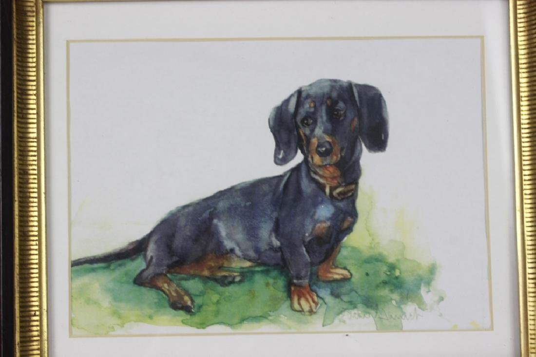 Watercolor Print of a Dachshund Dog - 4