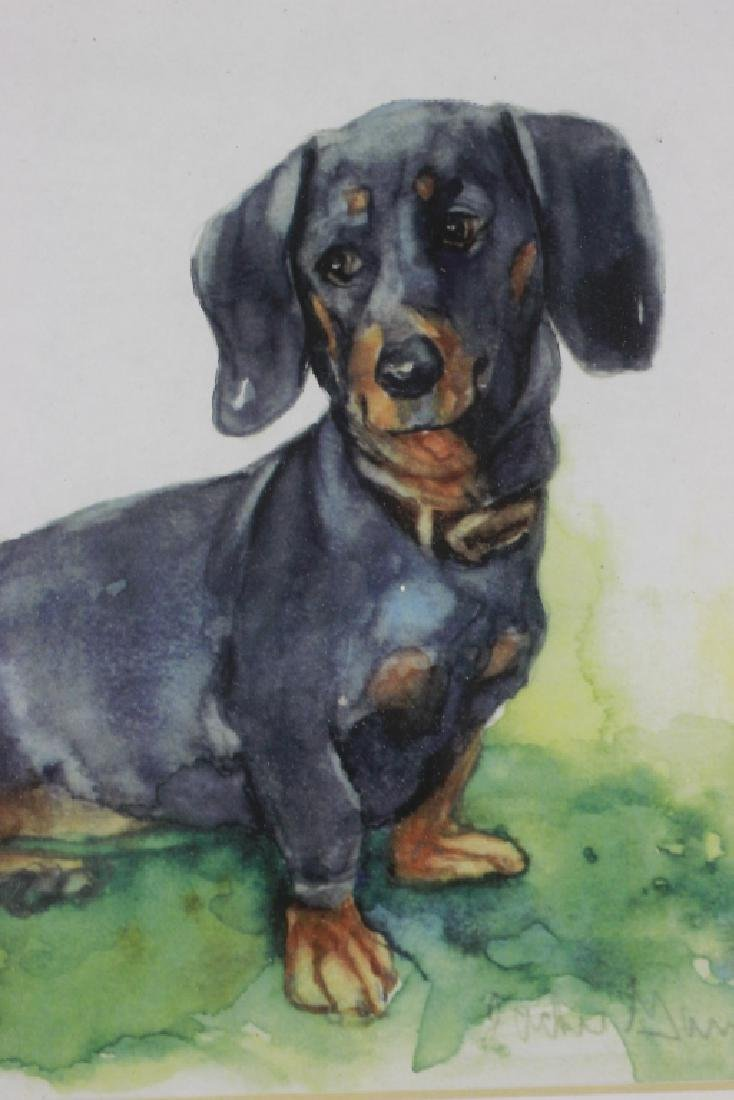 Watercolor Print of a Dachshund Dog - 5