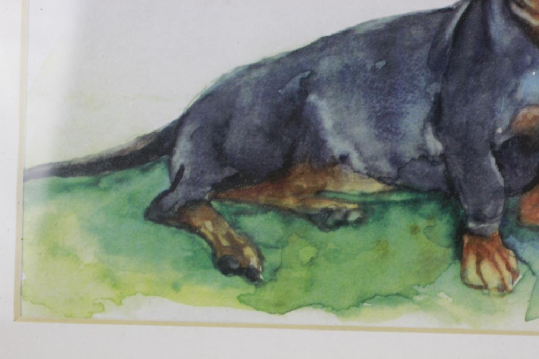 Watercolor Print of a Dachshund Dog - 6