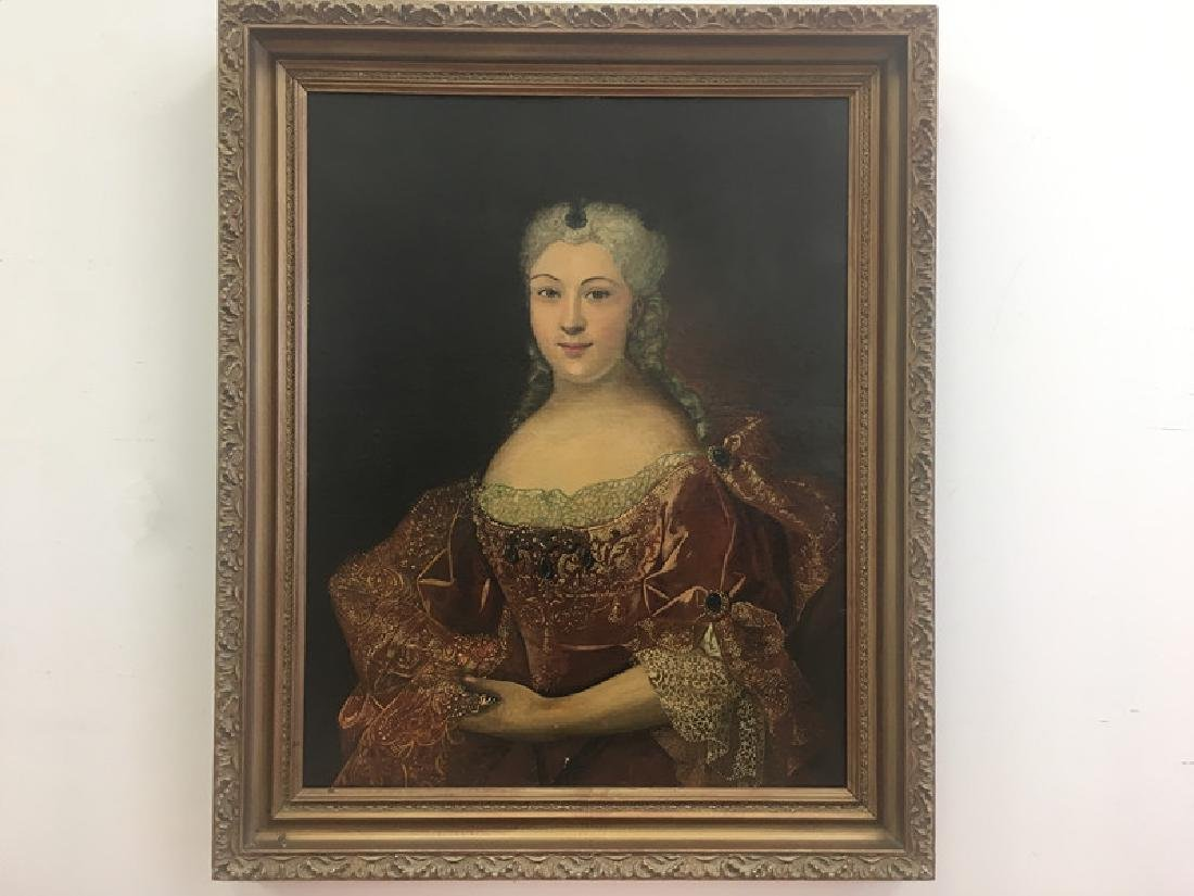Late19thc Large O/C Portrait of Woman