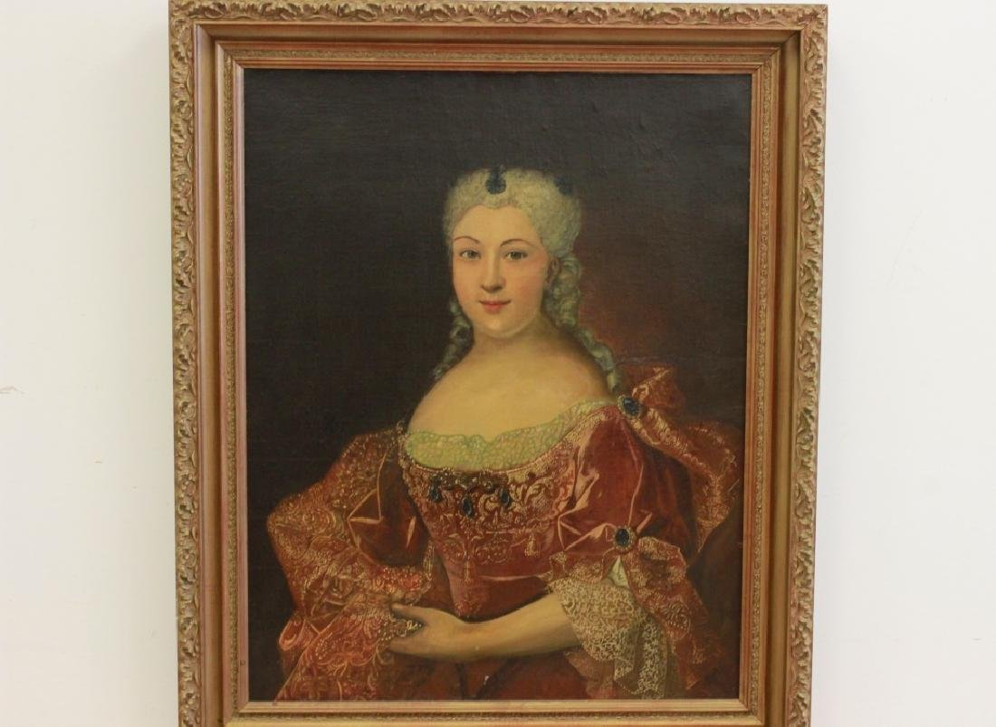 Late19thc Large O/C Portrait of Woman - 2