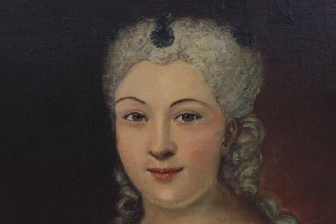 Late19thc Large O/C Portrait of Woman - 4