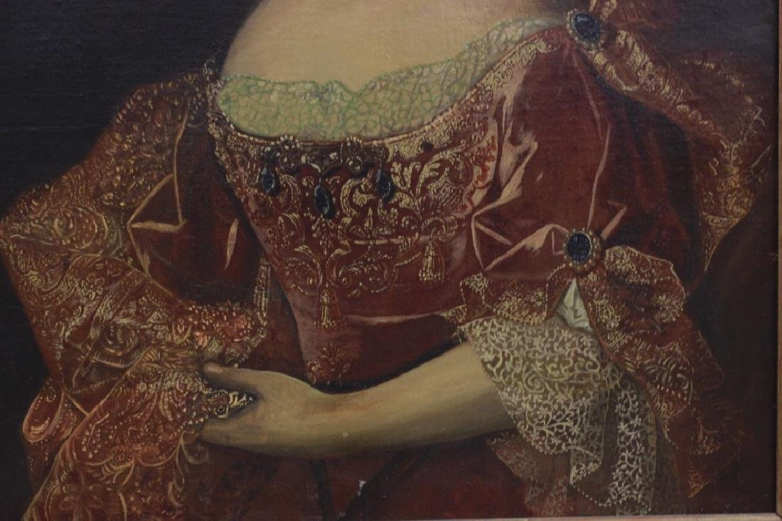 Late19thc Large O/C Portrait of Woman - 7