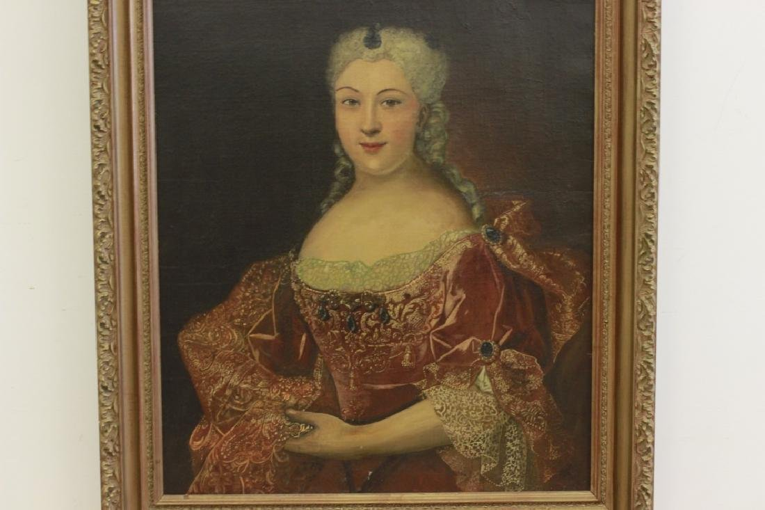 Late19thc Large O/C Portrait of Woman - 8
