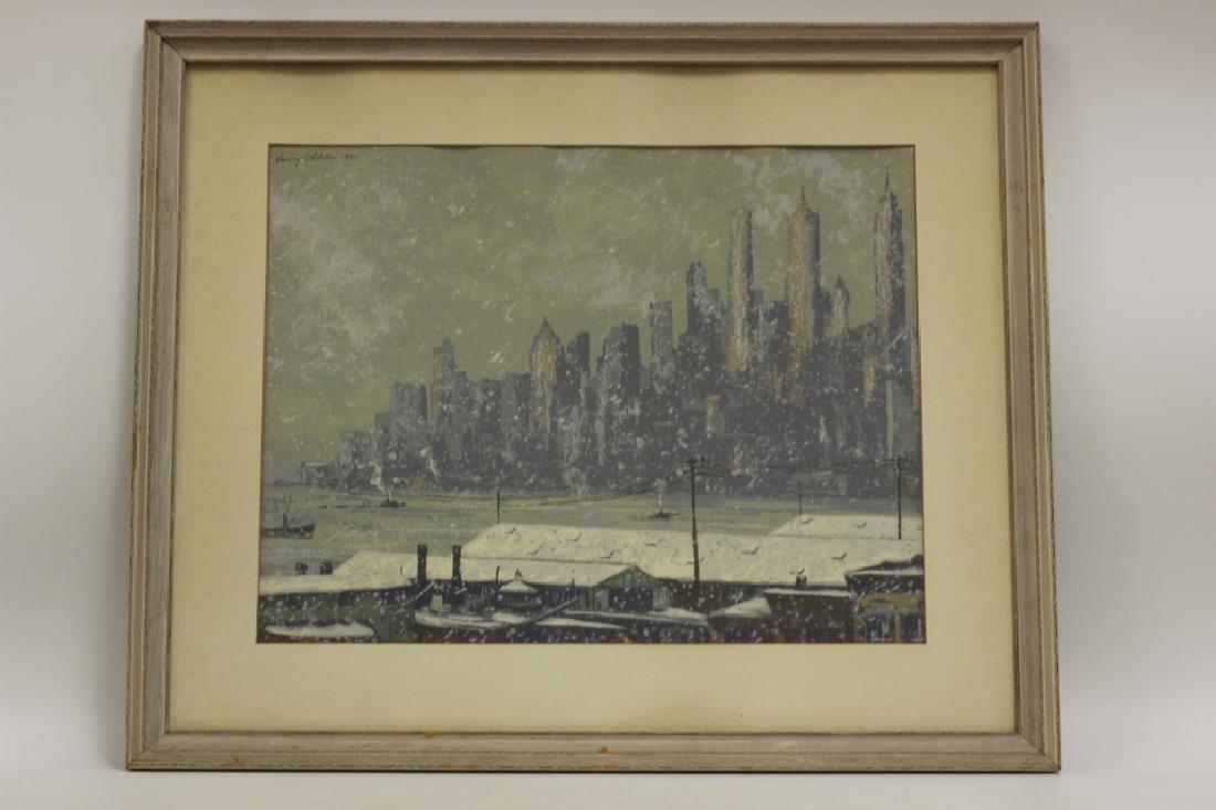 Harry Shokler (1896-1978) Watercolor & Gauche