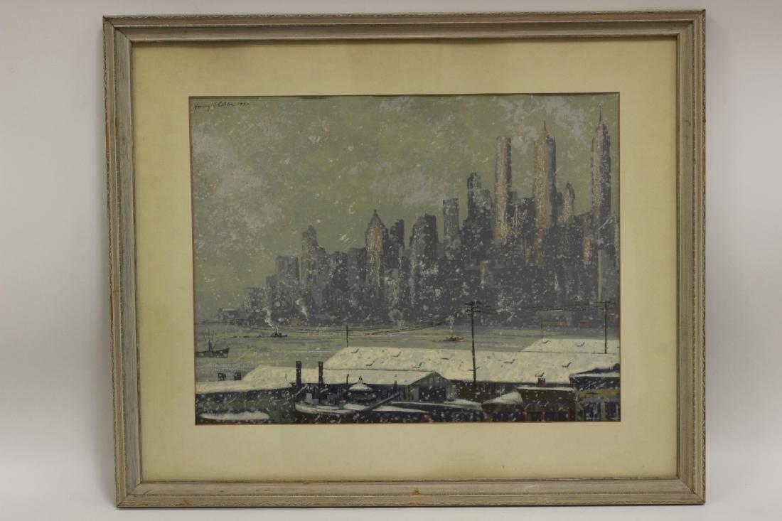 Harry Shokler (1896-1978) Watercolor & Gauche - 8
