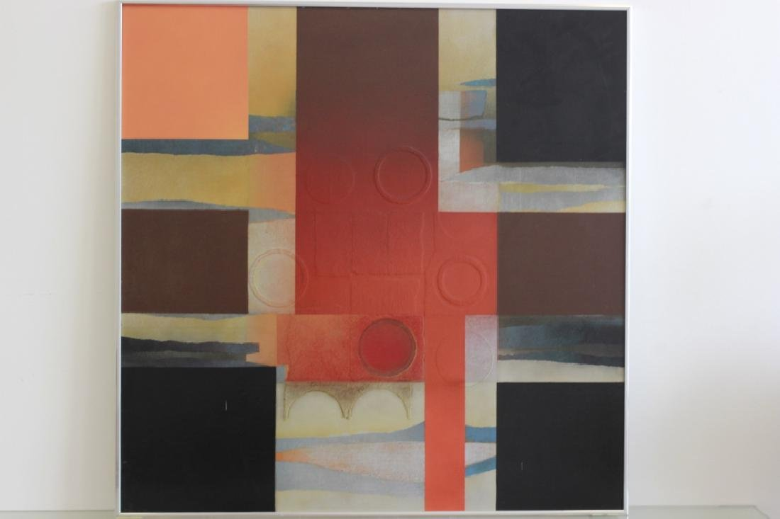 Cubist Abstract Signed Marg Ludvic, 1975