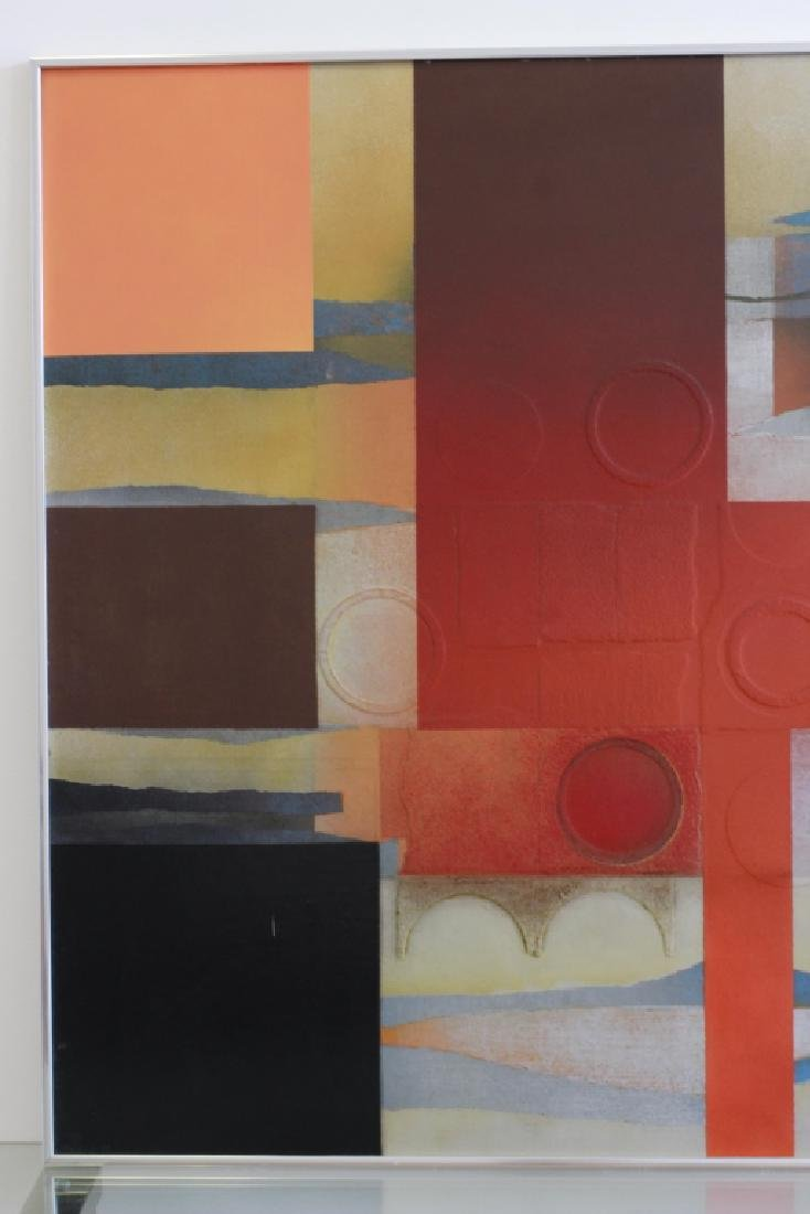 Cubist Abstract Signed Marg Ludvic, 1975 - 6