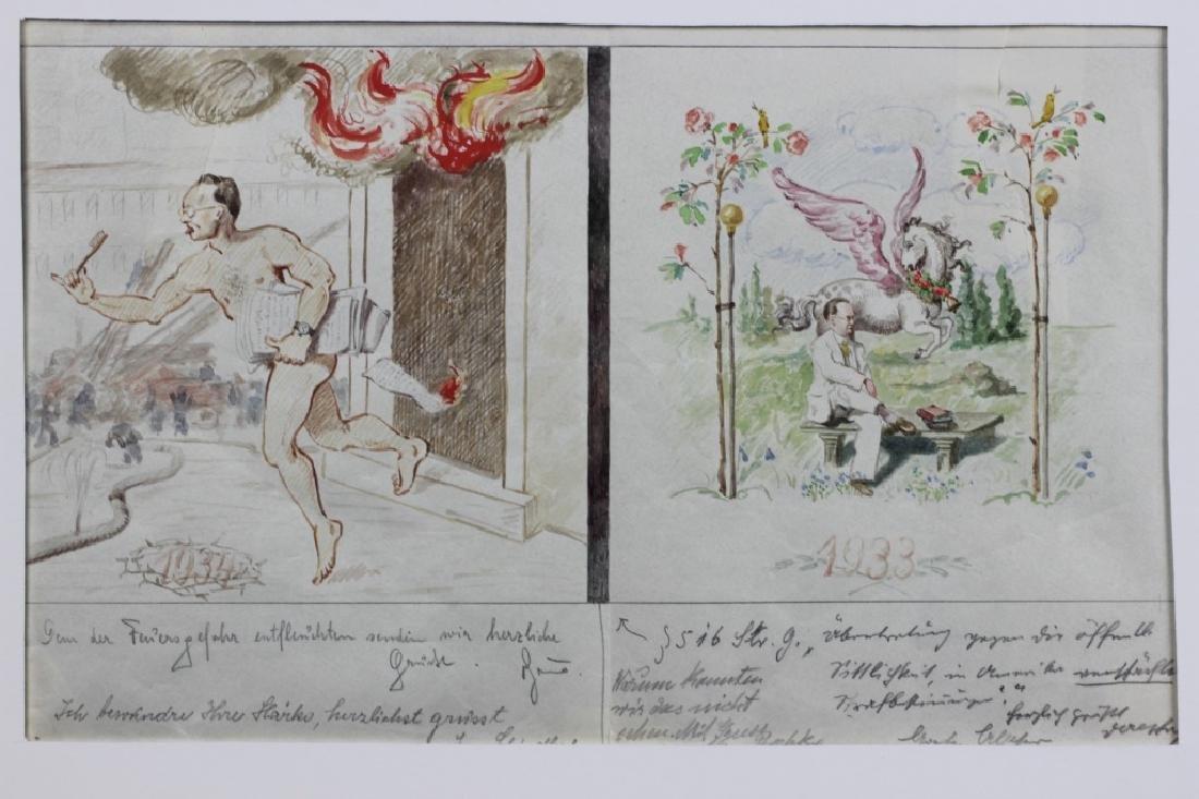 German Watercolor, Dated 1933, 1934 - 2