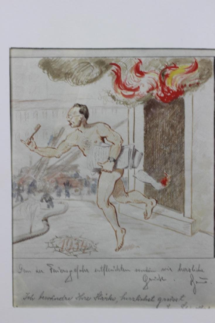 German Watercolor, Dated 1933, 1934 - 3