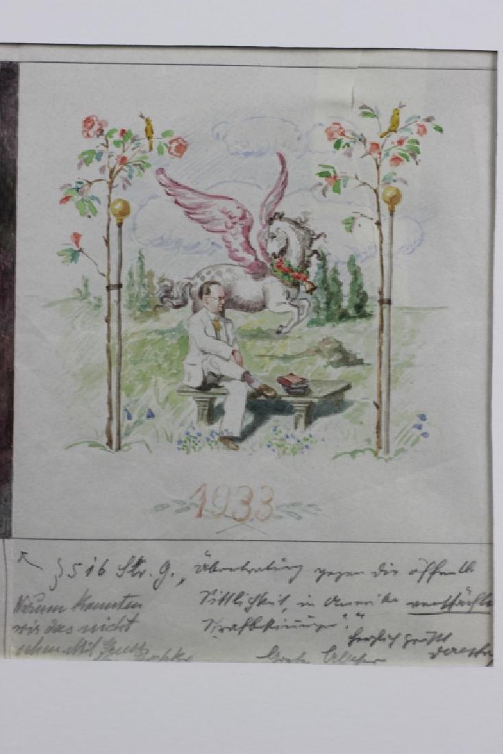 German Watercolor, Dated 1933, 1934 - 4