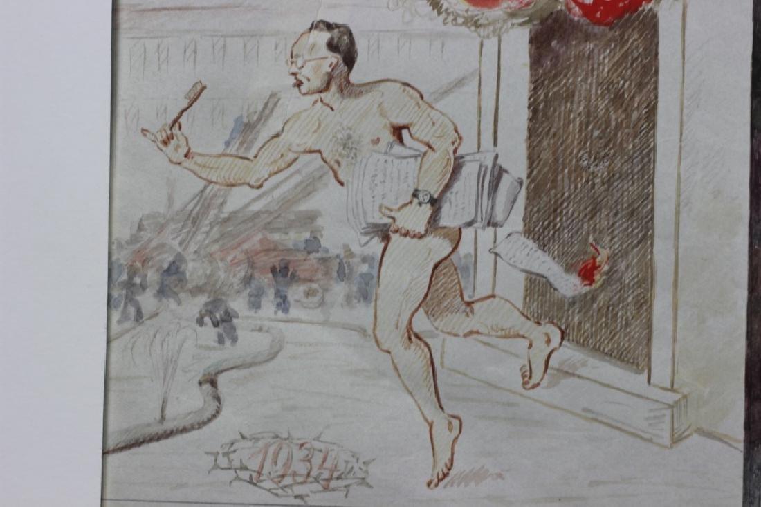 German Watercolor, Dated 1933, 1934 - 8