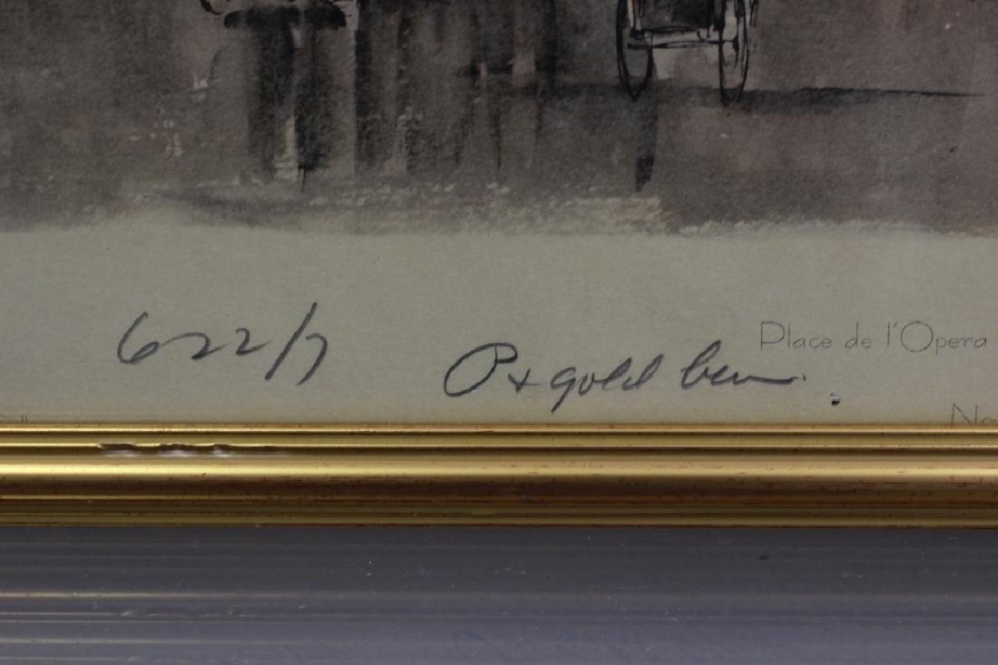 6 Prints of Paris in Gilded Frames - 10