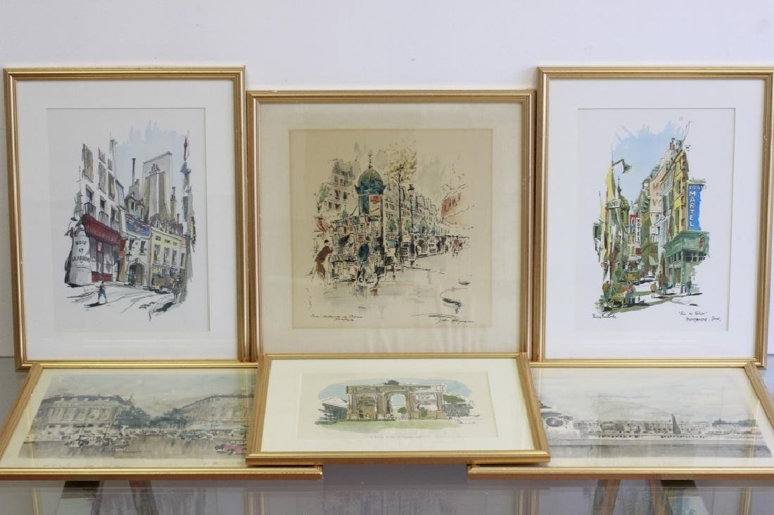 6 Prints of Paris in Gilded Frames