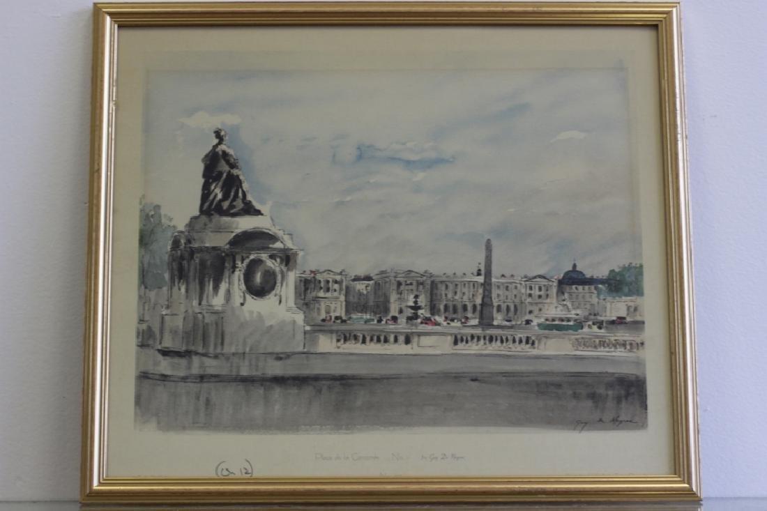 6 Prints of Paris in Gilded Frames - 5