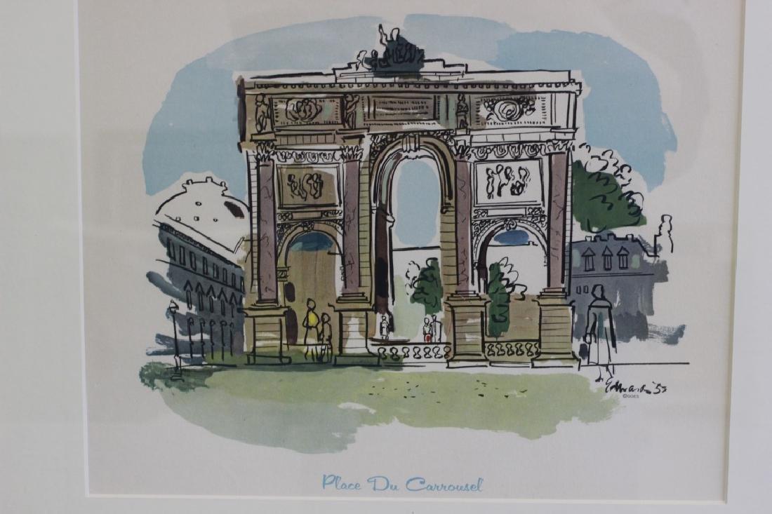 6 Prints of Paris in Gilded Frames - 6