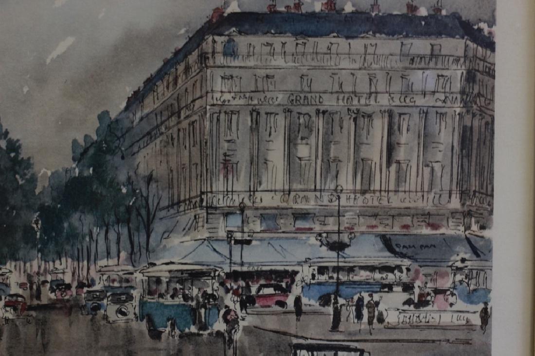 6 Prints of Paris in Gilded Frames - 8