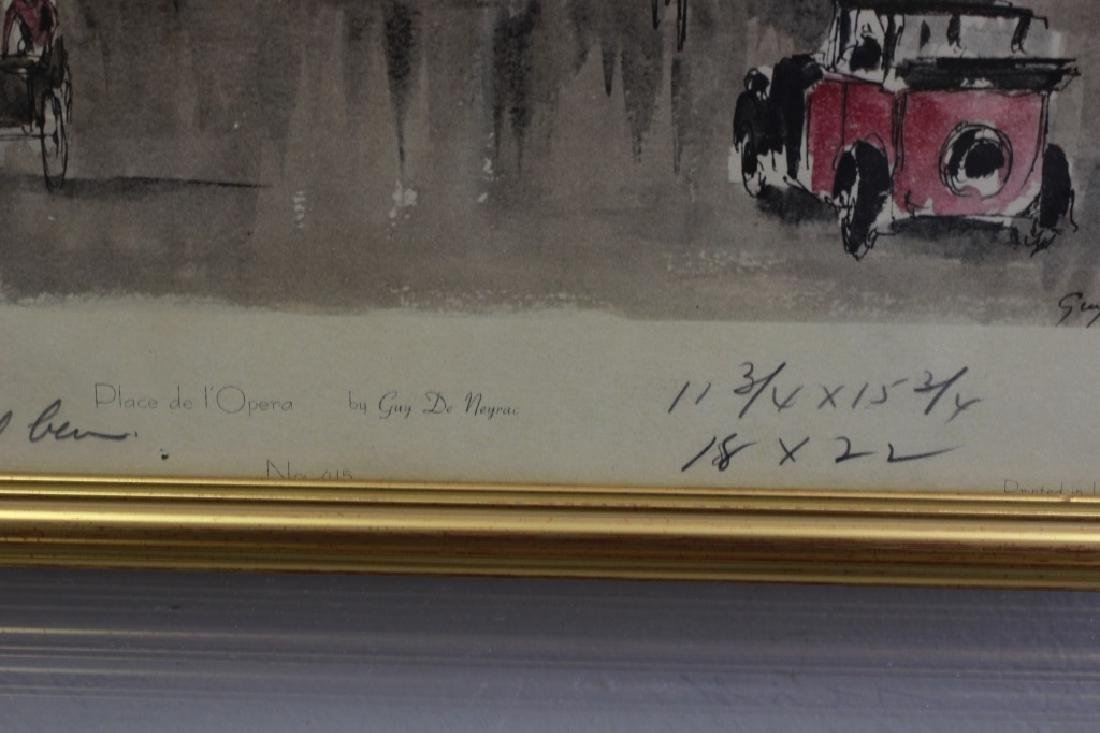 6 Prints of Paris in Gilded Frames - 9
