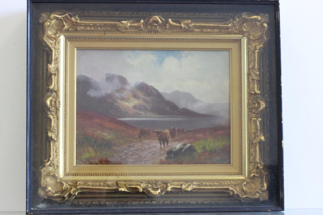 19thc O/C Cows Signed Walter