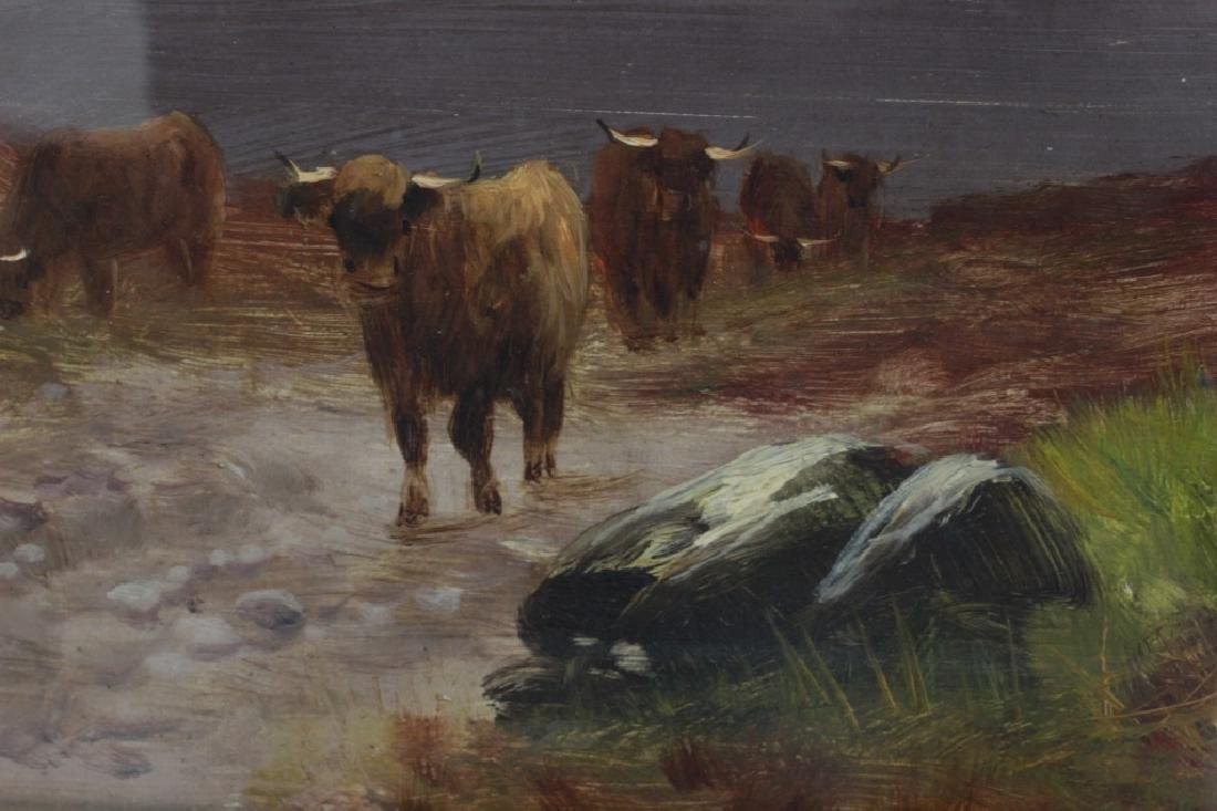 19thc O/C Cows Signed Walter - 3