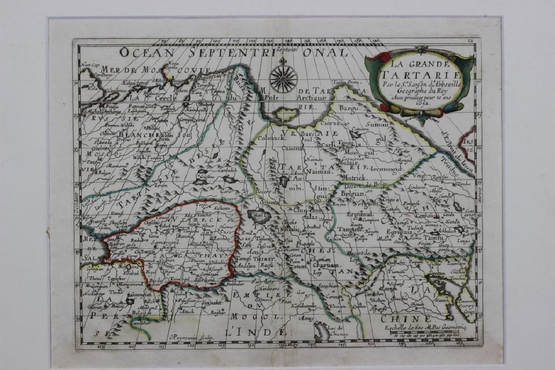 Old Map of Siberia w/ Original Color