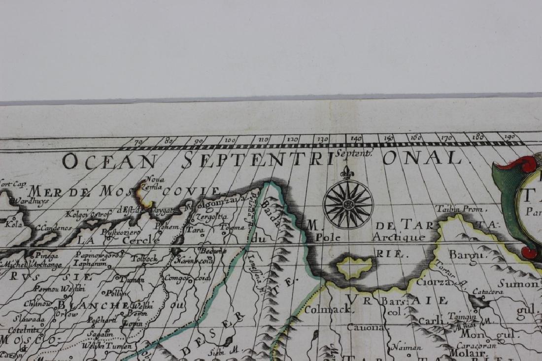 Old Map of Siberia w/ Original Color - 3