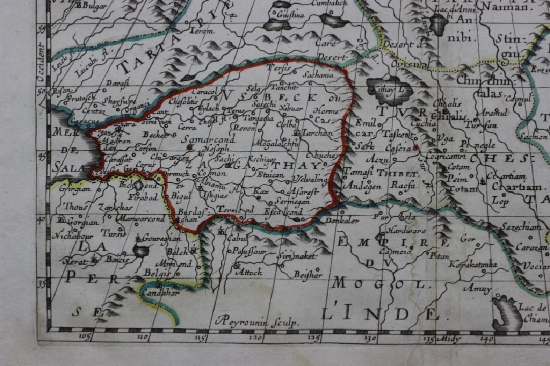 Old Map of Siberia w/ Original Color - 4