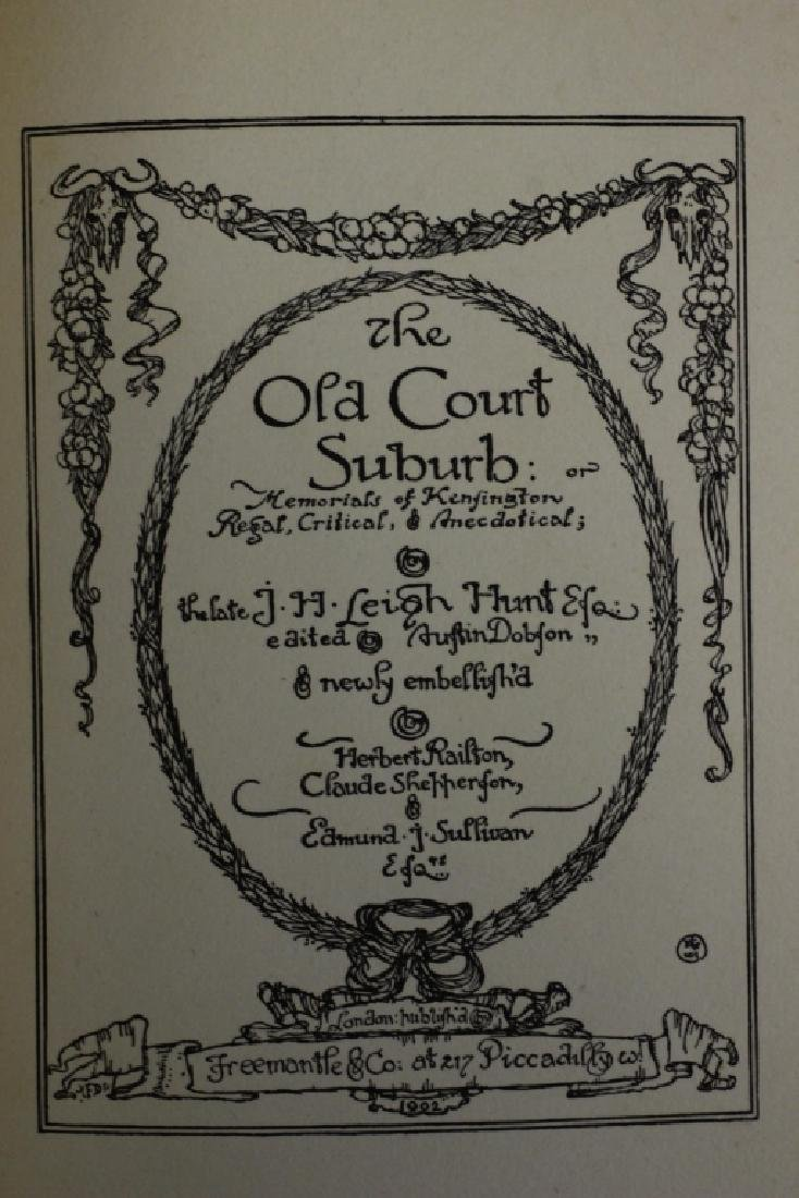 2 Ltd. Edition Old Books, The Old Court Suburb - 8